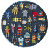 Momeni Lil Mo Whimsy LMJ-1 Steel Blue Area Rug Close up