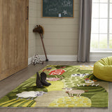 Momeni Lil Mo Whimsy LMJ11 Grass Area Rug Detail Shot