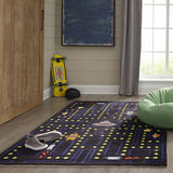 Momeni Lil Mo Whimsy LMJ14 Arcade Black Area Rug Detail Shot