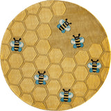 Momeni Lil Mo Whimsy LMJ15 Honeycomb Gold Area Rug Room Scene