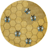 Momeni Lil Mo Whimsy LMJ15 Honeycomb Gold Hand Tufted Area Rug