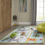Momeni Lil Mo Whimsy LMJ19 Blue Area Rug Detail Shot