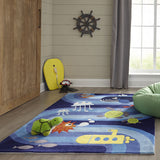 Momeni Lil Mo Whimsy LMJ21 Blue Area Rug Detail Shot