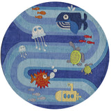 Momeni Lil Mo Whimsy LMJ21 Blue Hand Tufted Area Rug