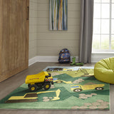 Momeni Lil Mo Whimsy LMJ24 Green Area Rug Detail Shot