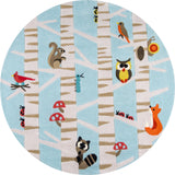 Momeni Lil Mo Whimsy LMJ29 Light Blue Area Rug Close Up