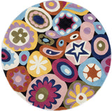 Momeni Lil Mo Hipster LMT-5 Multi Area Rug Close up