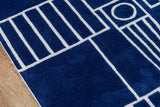 Momeni Lil Mo Hipster LMT16 Navy Area Rug Close Up
