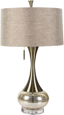 Surya Glass/metal LMP-1059 Silver/Gold Lamp