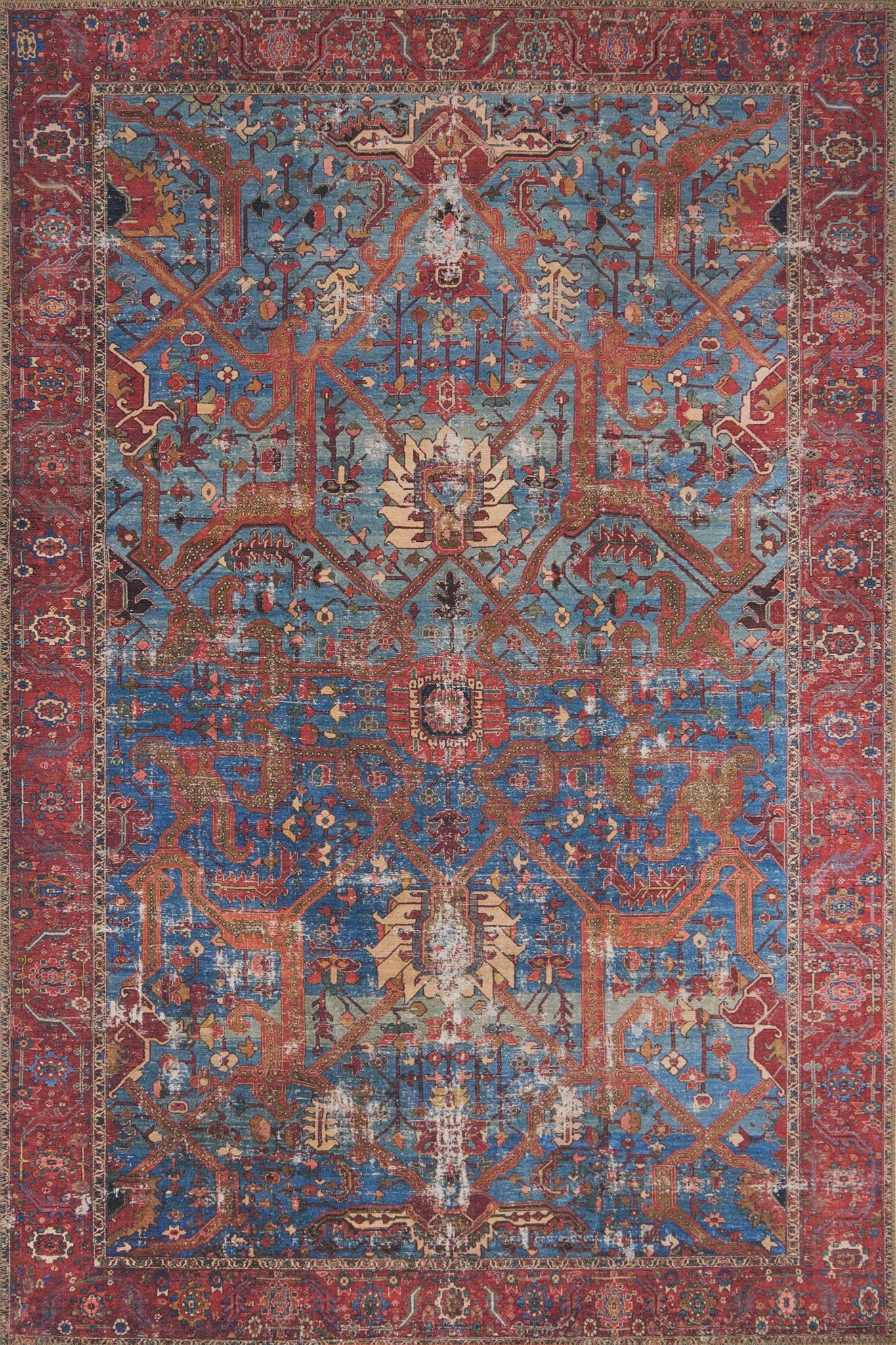 Loloi Loren LQ-10 Blue/Red Area Rug main image