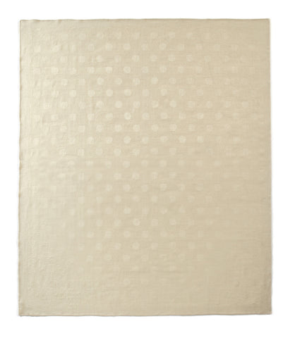 Auskin Luxury Skins 100% Baby Alpaca Throws Ivory Dots Bedding
