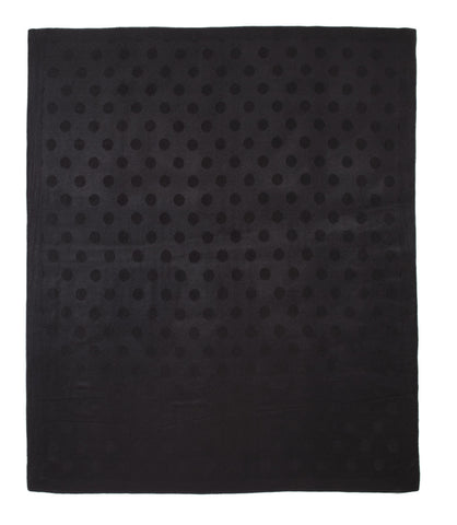 Auskin Luxury Skins 100% Baby Alpaca Throw Black Dots Bedding