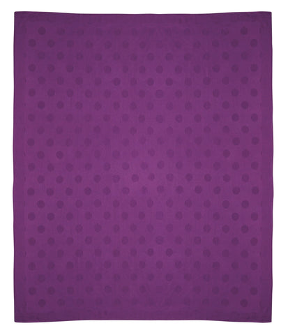 Auskin Luxury Skins 100% Baby Alpaca Throws Dots Purple Bedding