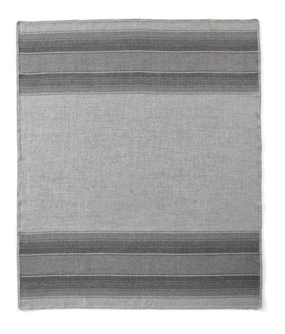 Auskin Luxury Skins 100% Baby Alpaca Throws Lines Greys Bedding