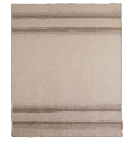 Auskin Luxury Skins 100% Baby Alpaca Throws Lines Taupe Bedding