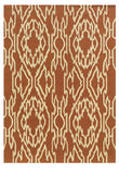 Linon Le Soleil RUG-LS02 Terracotta/Ivory Area Rug main image