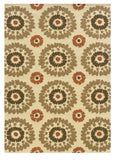 Linon Le Soleil RUG-LS03 Ivory/Terracotta Area Rug main image