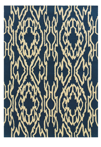 Linon Le Soleil RUG-LS11 Navy/Ivory Area Rug main image