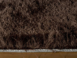 Momeni Luster Shag LS-01 Brown Area Rug Closeup