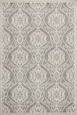 KAS Lucia 2759 Silver Mosaic Machine Woven Area Rug