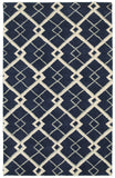 LR Resources Luxor 03851 Navy Hand Tufted Area Rug 5' X 7'9''