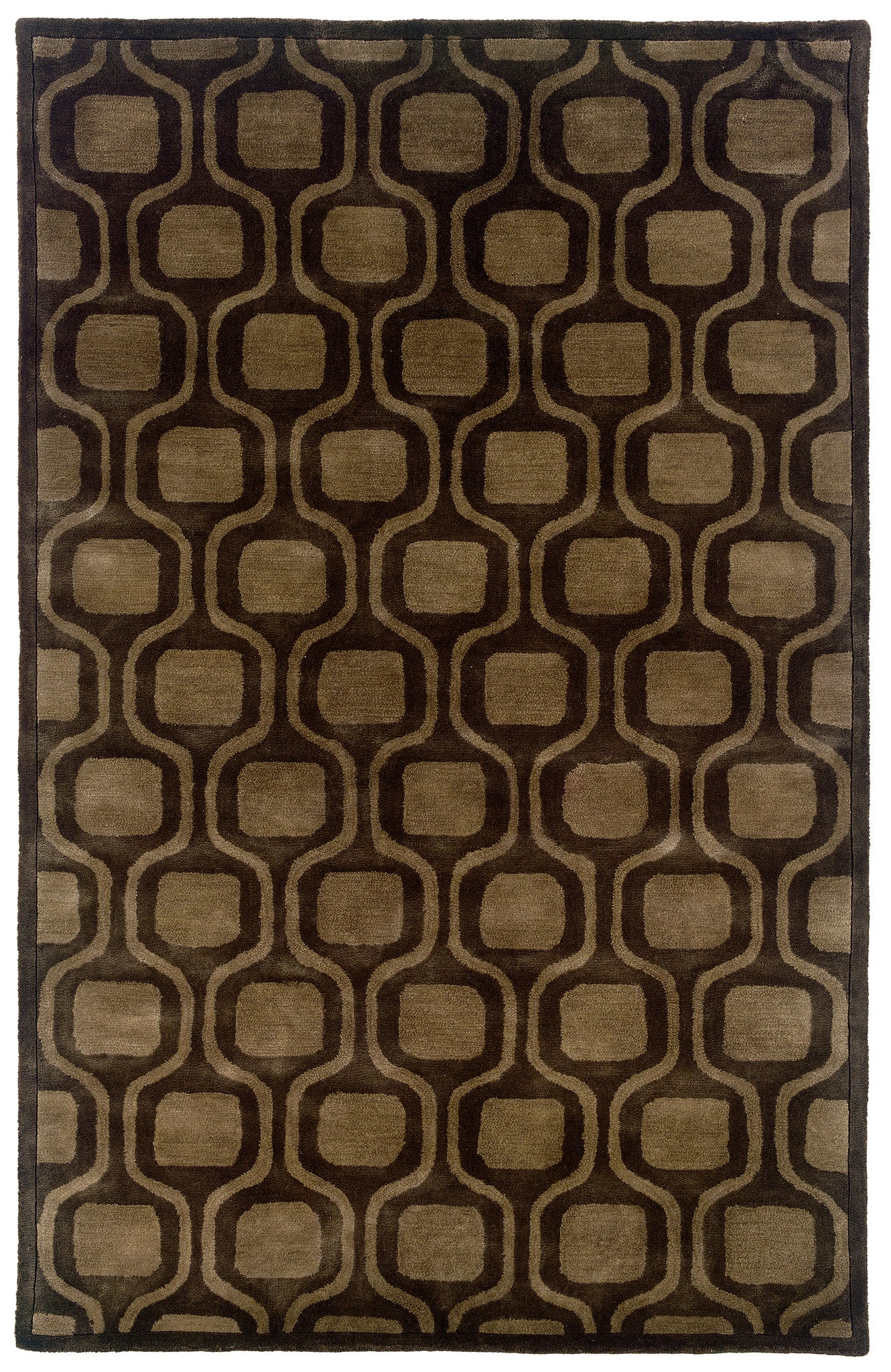 LR Resources Majestic 09303 Charcoal Area Rug