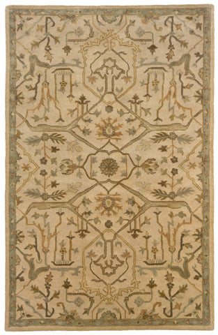 LR Resources Majestic 09305 Beige Area Rug