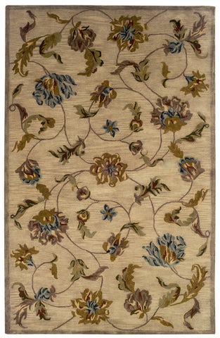 LR Resources Majestic 09360 Beige Area Rug