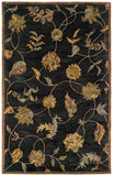 LR Resources Majestic 09363 Black Hand Tufted Area Rug 5' X 7'9''