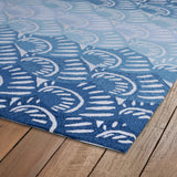 Kaleen Matira MAT10-17 Blue Area Rug Close-up Shot