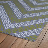 Kaleen Matira MAT11-75 Grey Area Rug Close-up Shot
