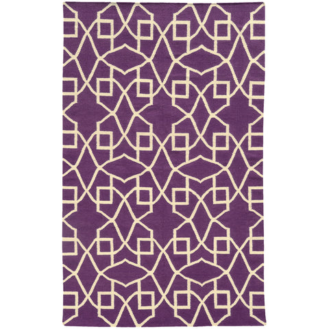 Pantone Universe Matrix 4267J Purple/Ivory Area Rug main image