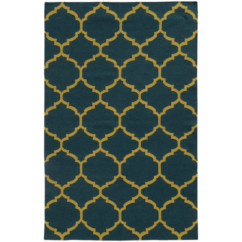 Pantone Universe Matrix 4280I Blue/Gold Area Rug main image