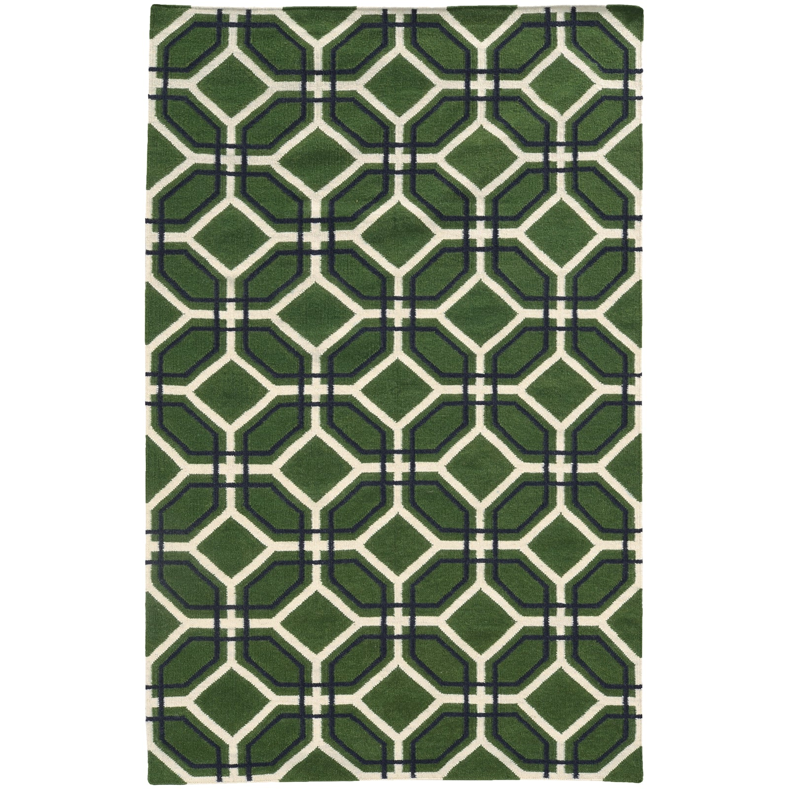 Pantone Universe Matrix 4722B Green/Charcoal Area Rug main image