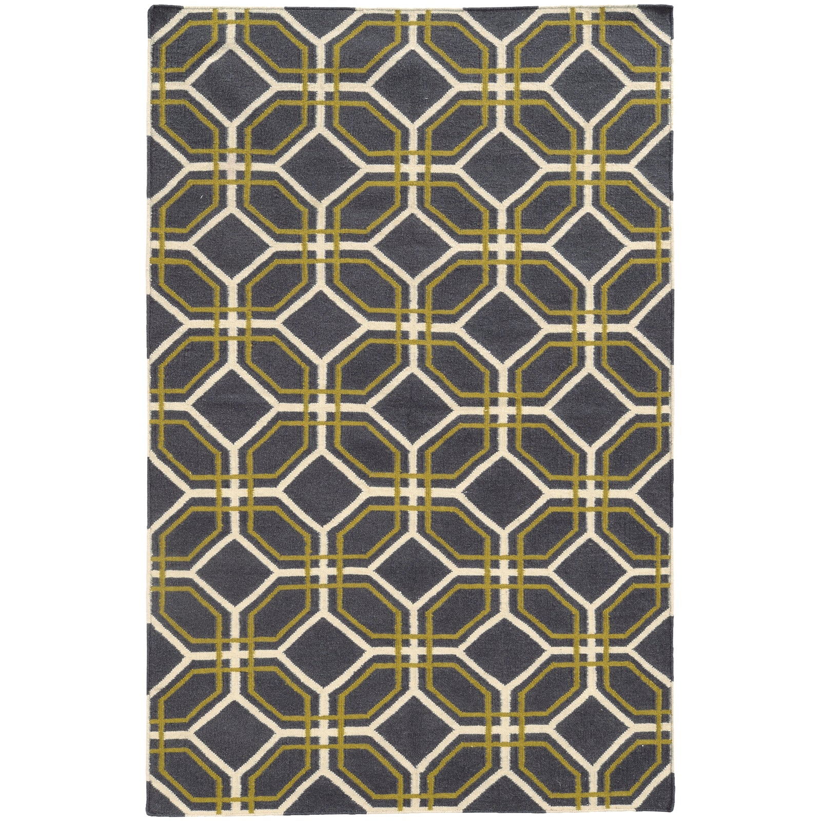 Pantone Universe Matrix 4722E Charcoal/Green Area Rug main image