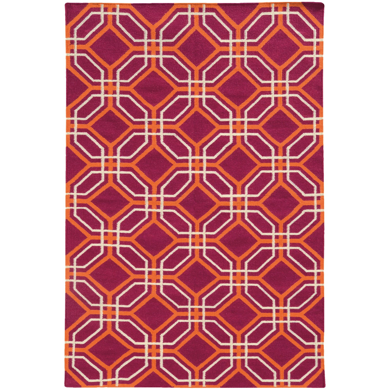 Pantone Universe Matrix 4722G Pink/Orange Area Rug main image