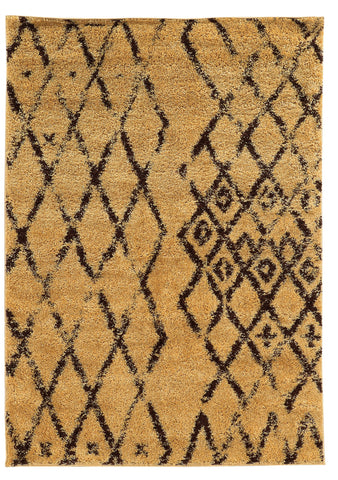 Linon Moroccan Collection RUGMC02 Camel/Brown Area Rug main image