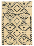 Linon Moroccan Collection RUGMC06 Ivory/Black Area Rug