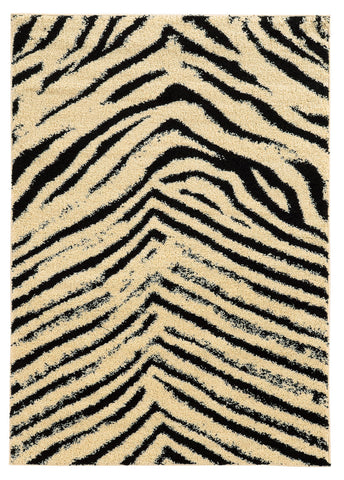 Linon Moroccan Collection RUGMC08 Ivory/Black Area Rug main image