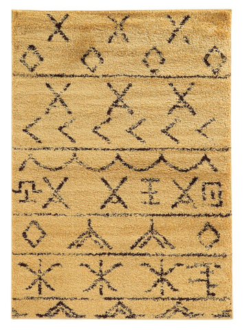 Linon Moroccan Collection RUGMC09 Camel/Brown Area Rug main image