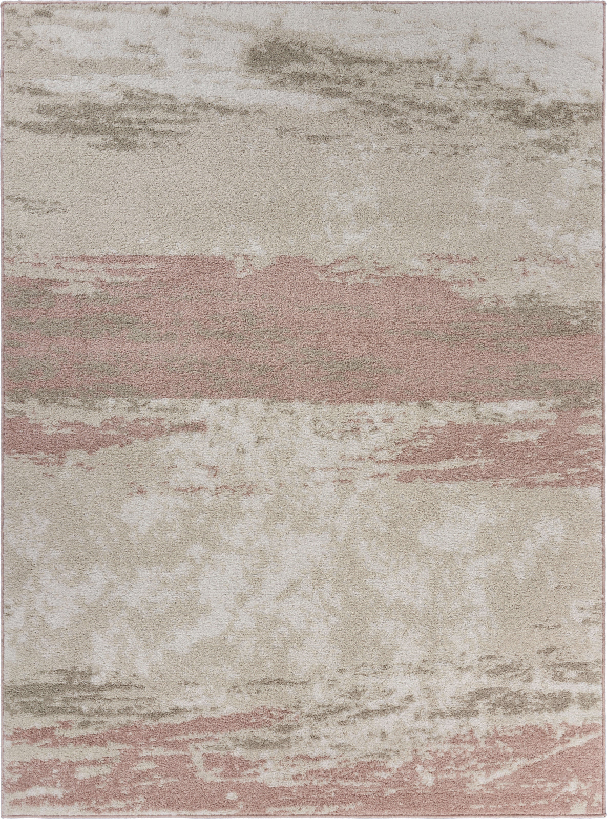 LR Resources Meadow Abstract Blush Brushstroke Area Rug main image