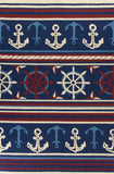 KAS Meridian 2531 Navy Nautical Hand Hooked Area Rug