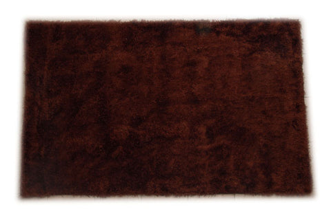 JazzyFloors Mason Solid Dark Brown Area Rug main image