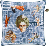 Surya Mind Games MNG001 Pillow by Mike Farrell