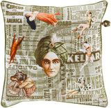 Surya Mind Games MNG002 Pillow by Mike Farrell