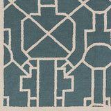 Artistic Weavers Marigold Leighton Teal/Ivory Area Rug Swatch