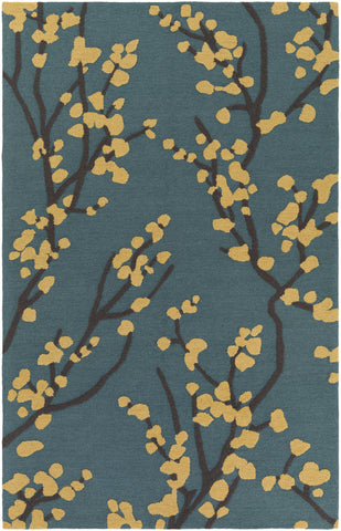 Artistic Weavers Marigold Caroline Teal/Yellow Area Rug main image