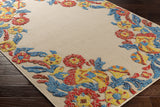 Artistic Weavers Mayan Polo Poppy Red/ Turquoise Area Rug Corner Shot