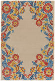 Artistic Weavers Mayan Polo Poppy Red/ Turquoise Area Rug main image