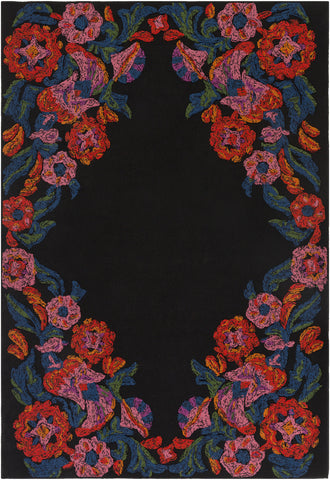 Artistic Weavers Mayan Polo Poppy Red/Carnation Pink Area Rug main image